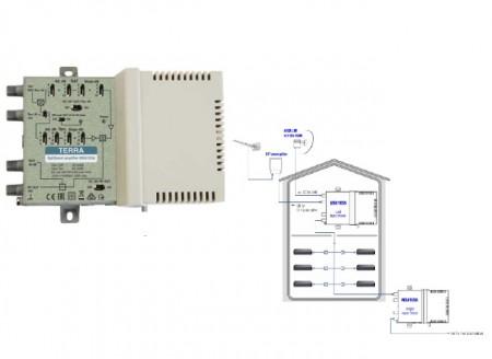 Усилитель Terra MSA103A с расщеплением диапазонов частот