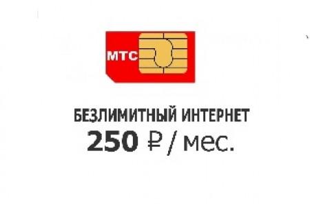 Тариф 250 руб от МТС в месяц полный безлимит