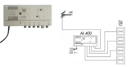 Эфирный усилитель сигнала alcad al 400 dvb t2