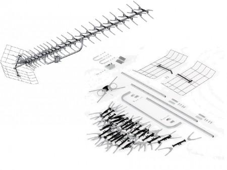Уличная пассивная DVB-T2 антенна Рэмо BAS X11102-P MAXI
