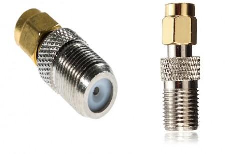Переходник SMA male - F female для подключения усиливающих антенн