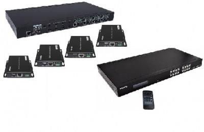 HDMI матрица Dr.HD MA 445 FBT 70 с передачей по витой паре сигнала от 4 источников