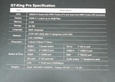 Beelink gt king pro с мощным 6 ядерным процессором