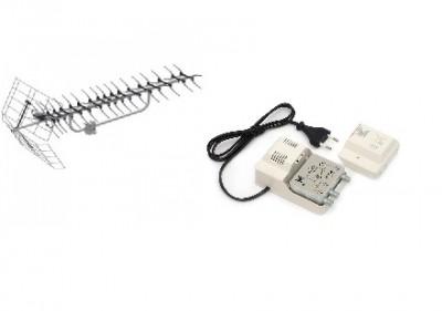 Установка мощной эфирной антенны с усилителем для дачи