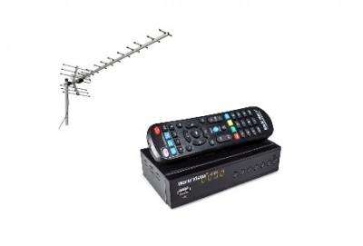 Установка цифровой эфирной пассивной антенны с приставкой