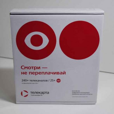 Комплект спутникового оборудования Телекарта ТВ с приемником evo 09
