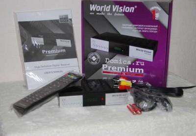World Vision Premium приставка с t2 и iptv новой модификации