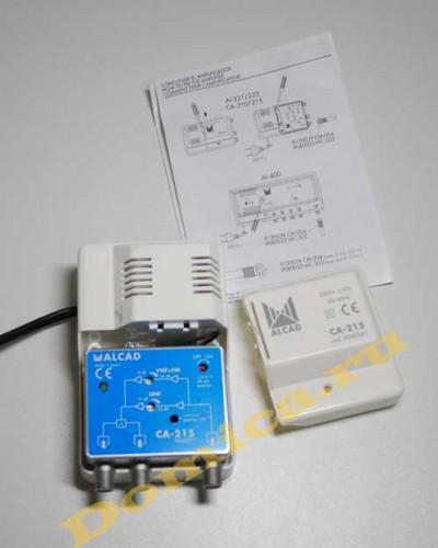 Alcad ca 215 с питанием активной антенны 12 вольт